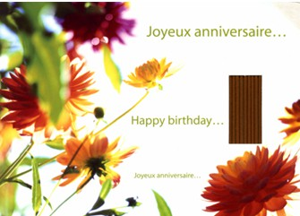 Chemin Du Bien Etre Carte Postale Encens Joyeux Anniversaire Les Encens Du Monde