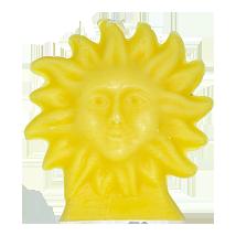 bougie-soleil-jaune