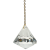 Pendule Cristal Diamant Swarovski. GM
