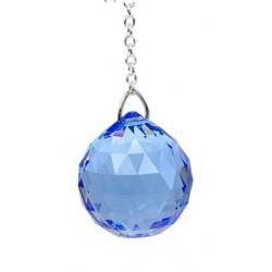Boule de Cristal à facettes 30 mm Saphir Medium : Vishudda